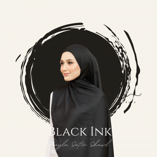 NAYLA SATIN IN BLACK INK
