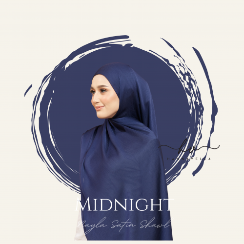NAYLA SATIN IN MIDNIGHT