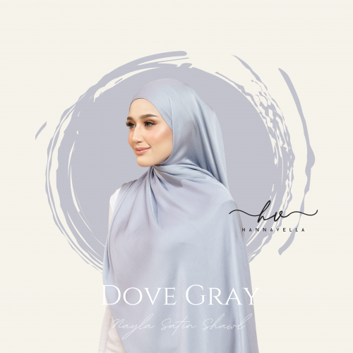 NAYLA SATIN IN DOVE GRAY