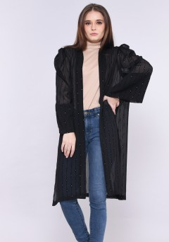 ESWARI CARDIGAN IN BLACK