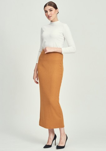 CLOVER SKIRT IN MUSTARD