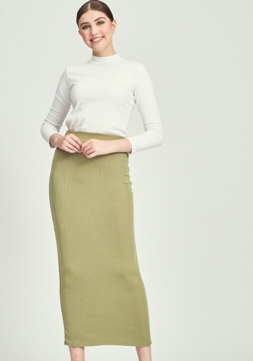 CLOVER SKIRT IN OLIVE GREEN