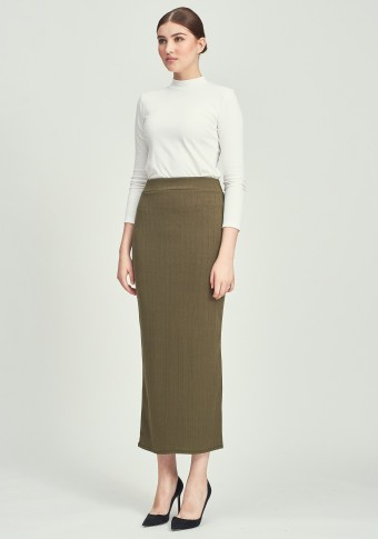 CLOVER SKIRT IN ARMY GREEN