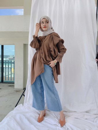 CLARA TOP IN BROWN